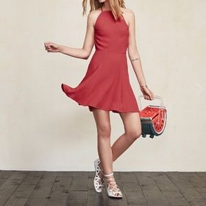 Reformation Dove Dress in Raspberry, Size 4